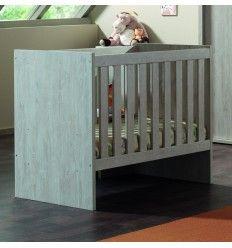 Lit pour bébé transformable coloris pin cottage
