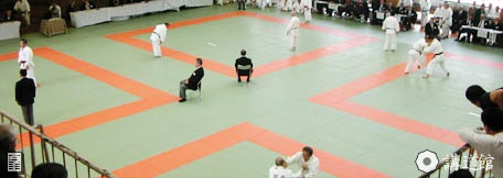 The Kodokan main dojo with 420 Tatami mats