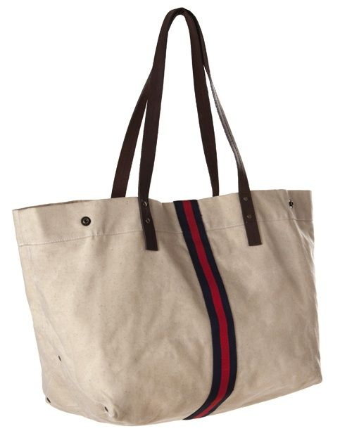 """From our new """"Heritage"""" collection, inspired by rugged American tradition. Whether shopping at the market, or off to a weekend retreat, this roomy tote will suit your every need. The """"Gravel"""" style is constructed of natural waxed heavyweight cotton duck and features a classic colored stripe. Stripe available in 3 color ways: Navy & Red [...]"""