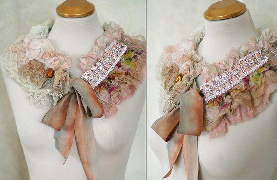 Baroque collar  froathy shabby chic collar or boa door FleurBonheur, $122.00