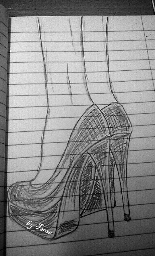 sketches, high-heels, shoes