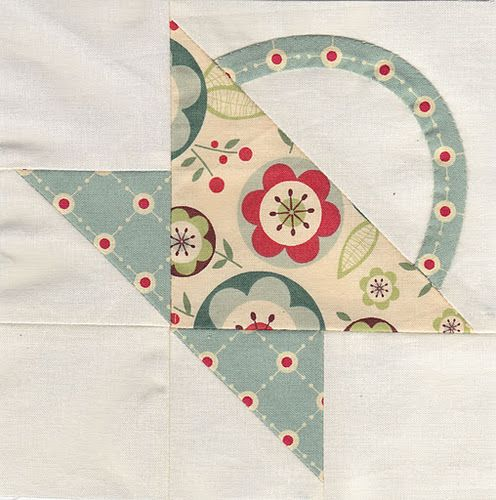 Flower basket, Farmer's wife quilt sampler