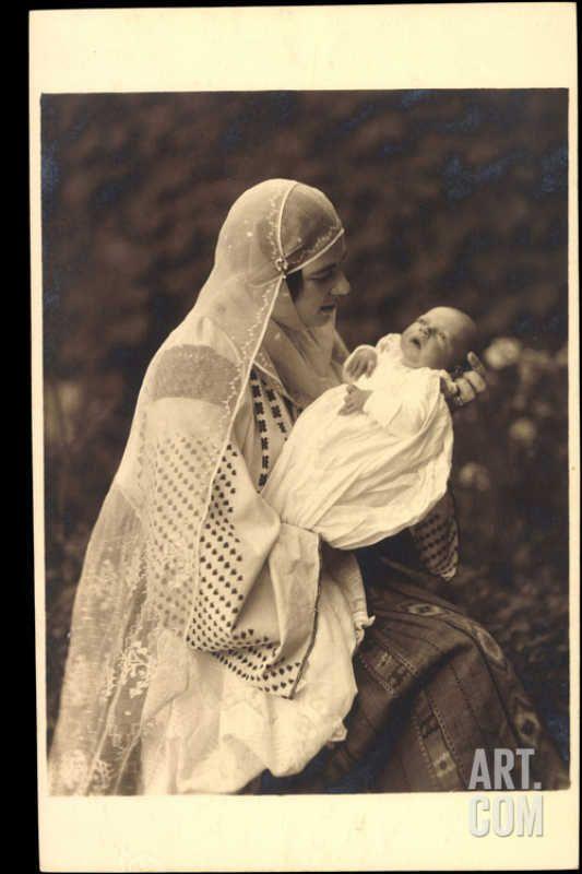 Princess Ileana of Romania and her baby.