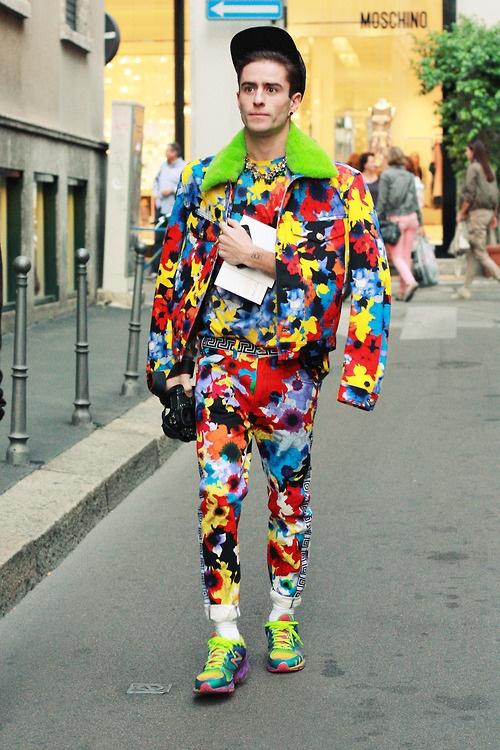 nelloesposito:    Prince Pelayo Diaz @ Versace (Milan Fashion Week) #1