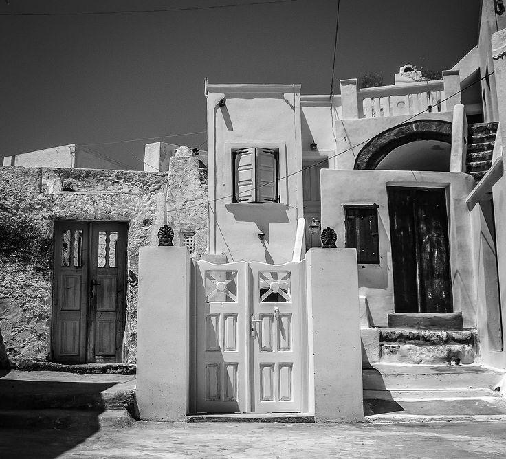 Dramatic architecture in Megalochori Village, Santorini