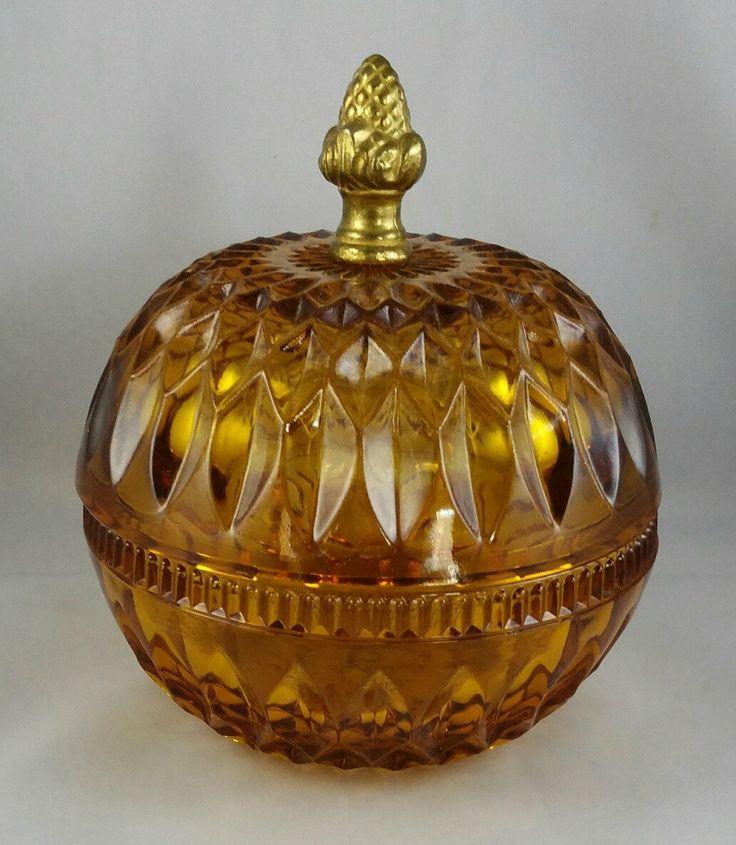Vintage Indiana Marigold Carnival Glass Sunflower Bowl eBay