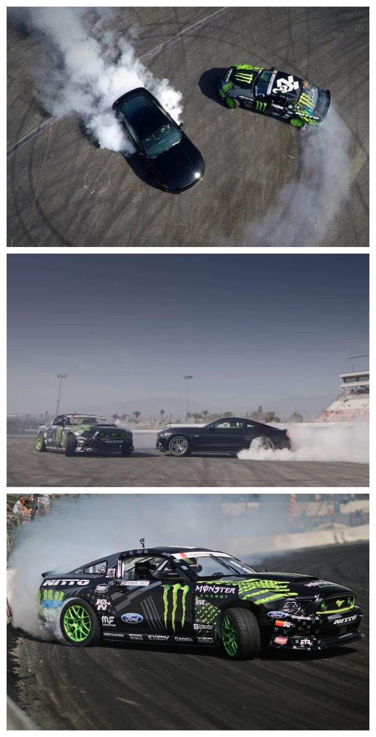All Smoke, No Joke: 2015 Mustang Meets Formula Drift. Click to watch the video #autoawesome