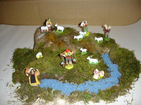 151 best cr che de noel images on pinterest dioramas for Decorations noel a fabriquer