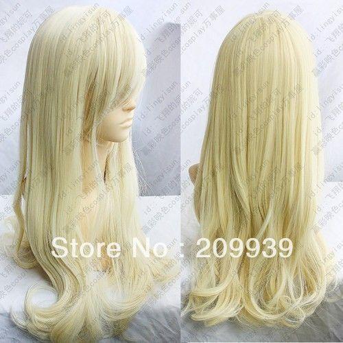 К . к . 00201 светлый блондин длинные волнистые волосы косплей