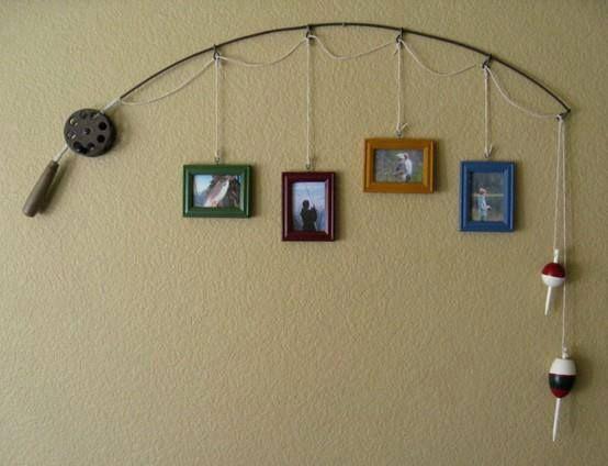 Une vielle canne à pèche devient un porte photos original ! Recup - DIY