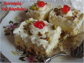 Εκμέκ όμορφο, λαμπερό και πεντανόστιμο, ως είθισται να είναι τα γλυκά μας τις γιορτινές ημέρες!  Εορταστικό, μιας και σήμερα είναι τα γενέ...