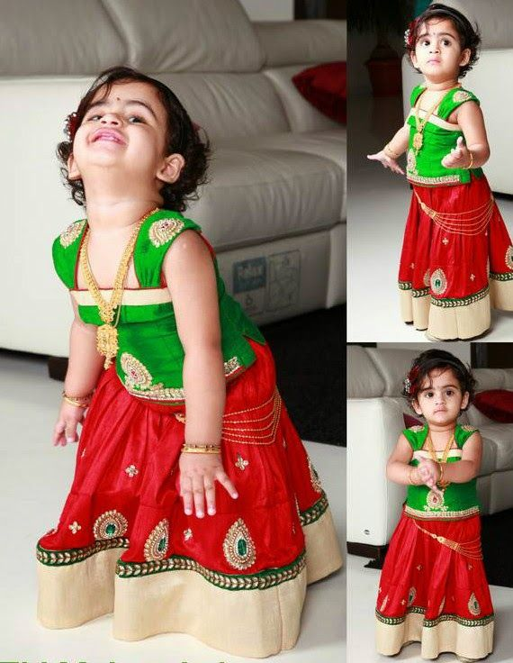 Indian Dresses: Lovely Baby in Mugdha's Dress