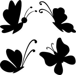 Трафарет бабочки для вырезания из бумаги: шаблоны