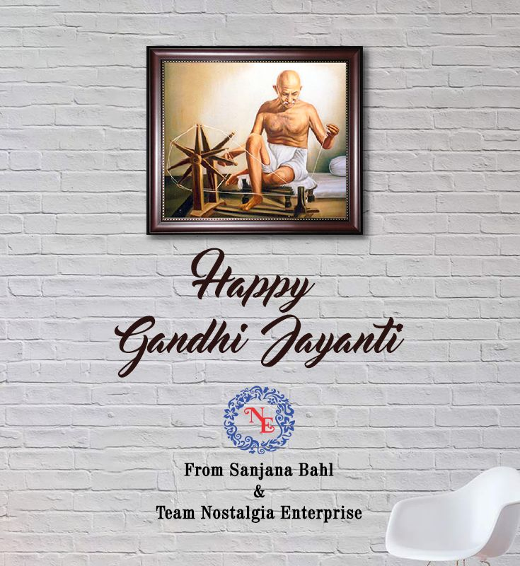 Nostalgia Enterprises wishes you Happy Gandhi Jayanti.  #nostalgiaenterprises #festival #freedom #happygandhijayanti