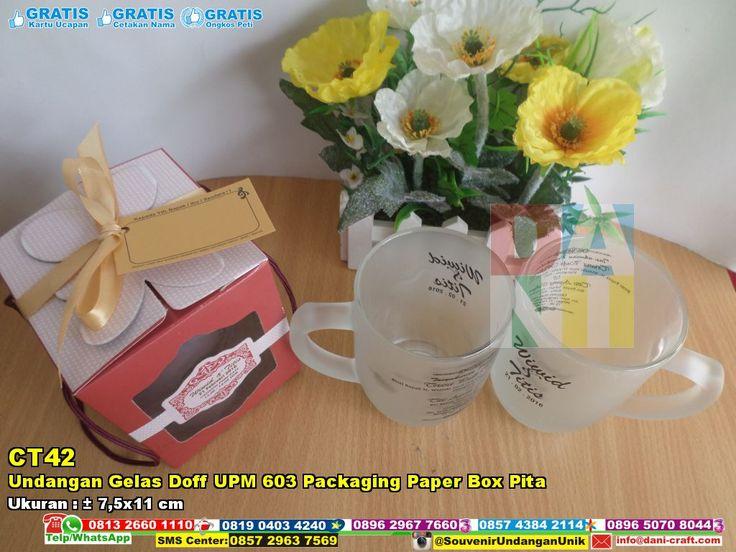 Undangan Gelas Doff UPM 603 Packaging Paper Box Pita WA/SMS/TELP 0813 2660 1110 Pin BB 59E 8C2 B6 #hargaGelas #gelasBelimbing #UndanganGelas #DistributorGelas #souvenirMurah #ContohUndangan