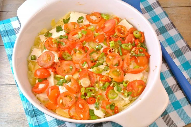 Pittige aardappelschotel met feta - Lekker en Simpel