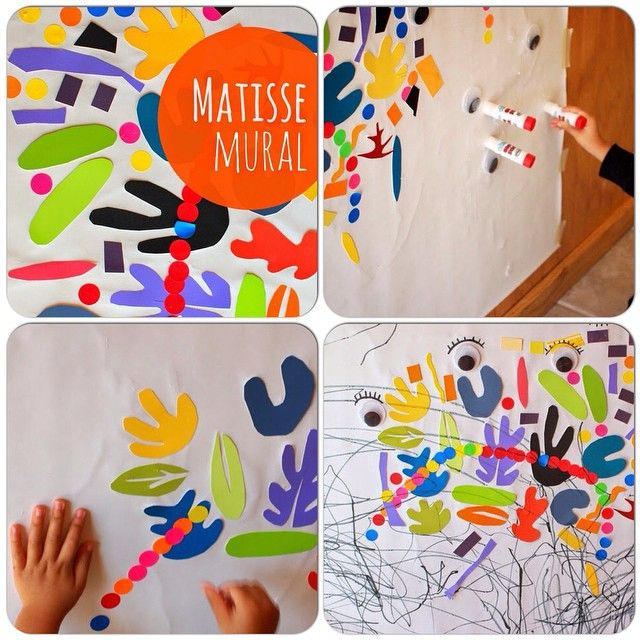 """МАТИСС ДОМА Интересный арт-проект для маленьких творцов: картина в стиле Матисса из абстрактных фигур на липкой основе. Прежде всего, малышу нужно рассказать, что жил-был такой вот интересный художник по имени Анри Матисс… И показать его картины, разумеется. С этой задачей вам могут помочь справиться книги: - """"Анри Матисс"""", Марина Пивень (http://www.labirint.ru/books/464370/?p=12321) - книга для детей от 6 лет из серии """"Рисуем с художниками"""", - """"Матисс. Аппликации"""", Жиль Нере…"""
