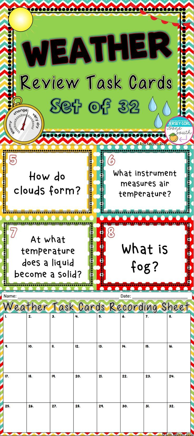 78 best weather and water cycle images on pinterest water cycle these weather task cards are the perfect way to review your weather and climate unit pooptronica