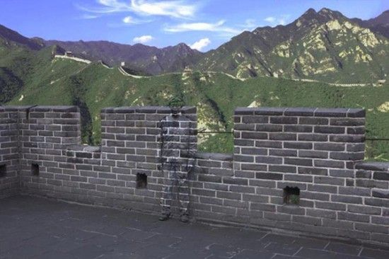 Invisible man in Great Wall
