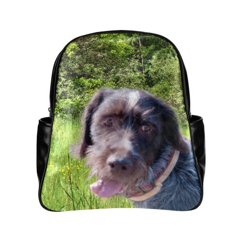 Dog and Flowers Multi-Pockets Backpack. FREE Shipping. FREE Returns. #lbackpacks #dogs