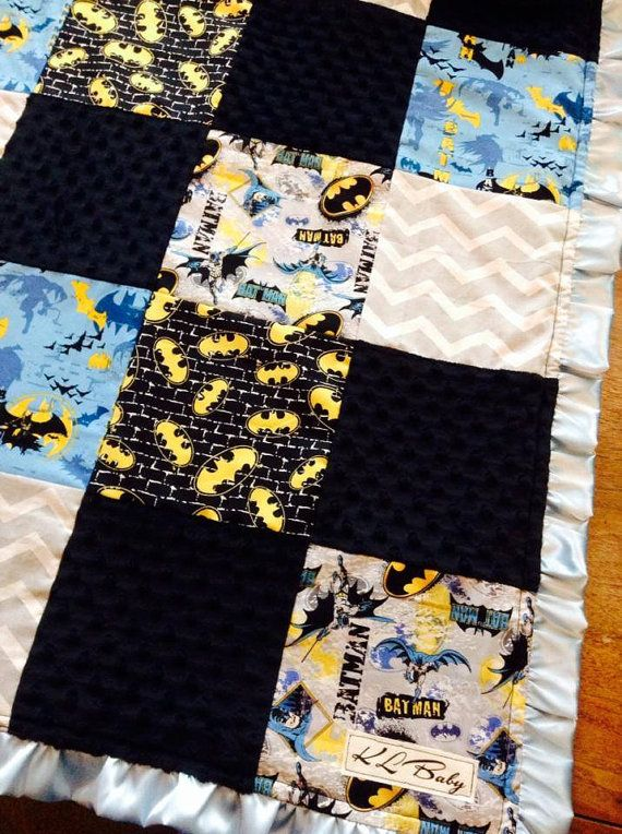 Batman Blanket on Etsy, $50.00