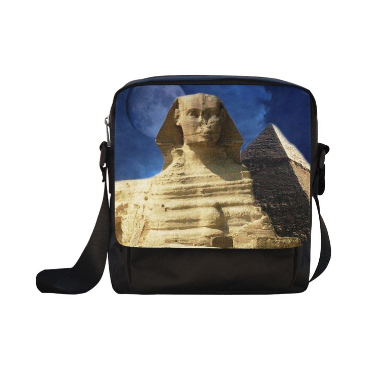 Sphinx and Pyramid Crossbody Nylon Bag. FREE Shipping. #artsadd #bags #egypt