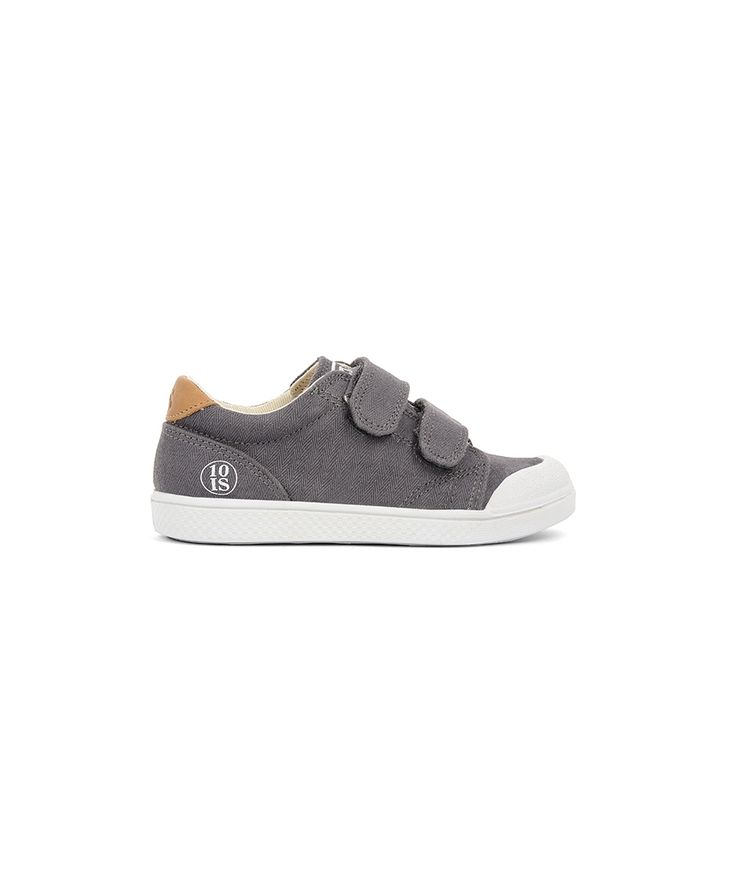 10IS Shoes Ten Velcro Twill Spiga grey