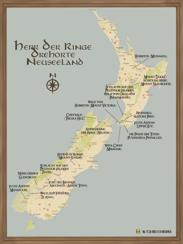 Info-Grafik: Herr der Ringe Drehorte NZ