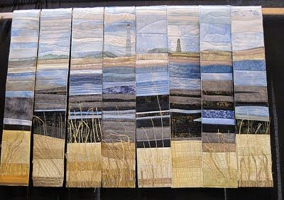 carolyn saxby  This is beautiful! #quilts quilting #seascapequilts