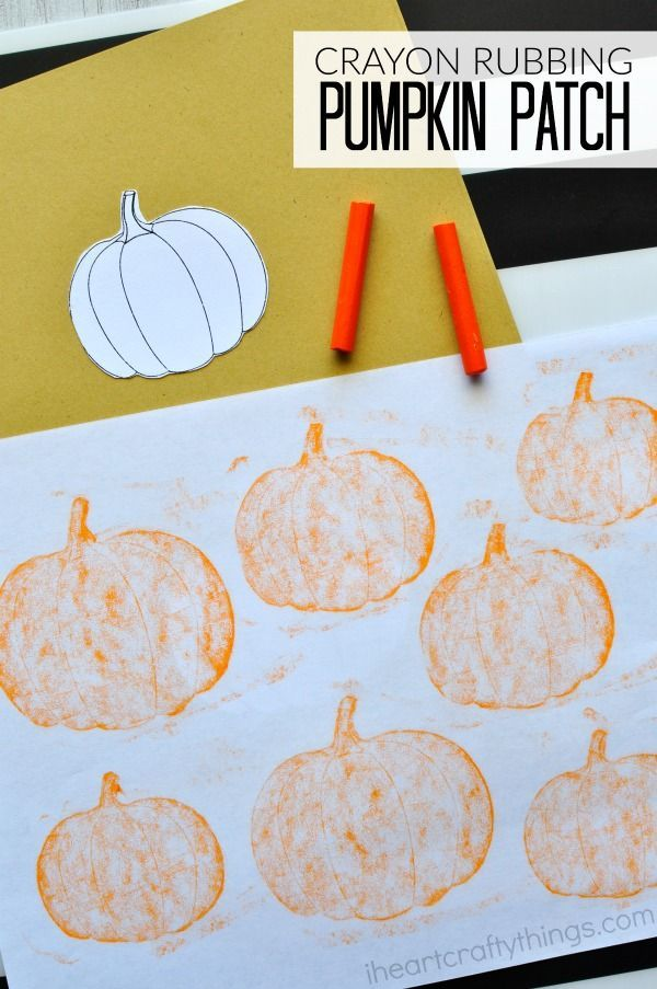 This simple crayon rubbing pumpkin patch craft makes a perfect kid craft after…