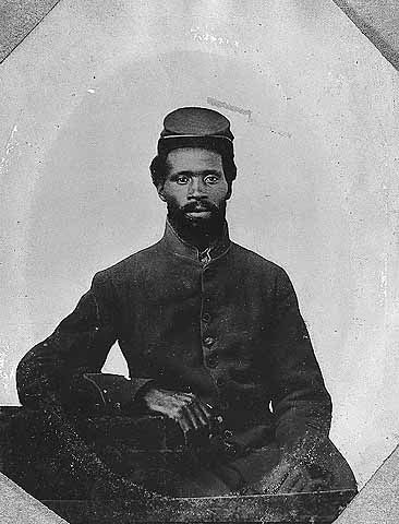 A photo of an African American Civil War soldier from the Minnesota Historical Society. Found it doing some research for The Daily Circuit.