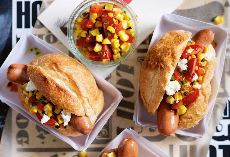 Hot Dog 4Kids mit Frankfurter und Mais-Salsa