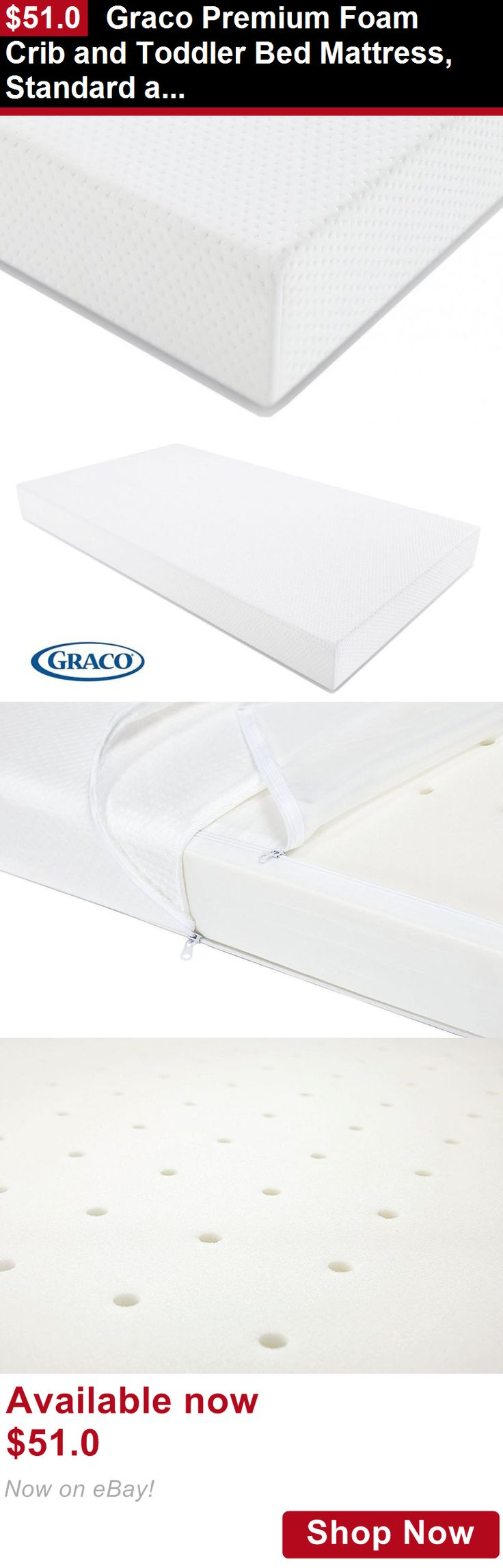 Crib Mattresses: Graco Premium Foam Crib And Toddler Bed Mattress, Standard And Full Sized BUY IT NOW ONLY: $51.0
