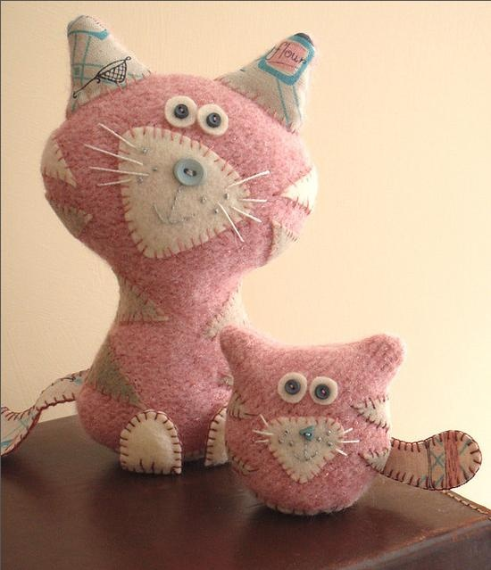 Pink Cat & Kitty