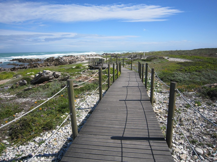 Walkway to Cape Agulhas, most southern most tip of Africa