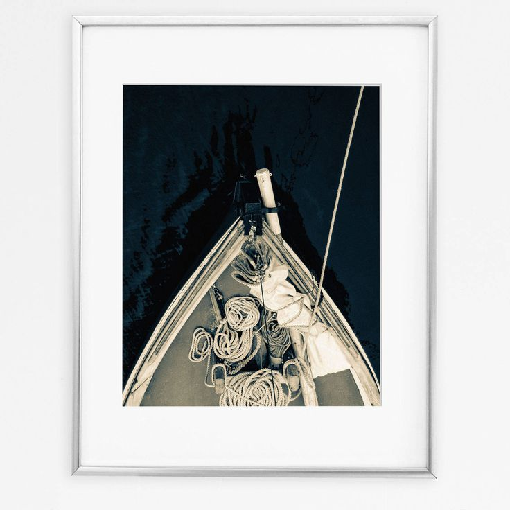Sail Boat Print, Sailing Gift, Coastal Decor, Sail Boat Art, Sailing Decor, Sail Boat Wall Art, Black And White Poster, Coastal Wall Art by DigitalSpot on Etsy
