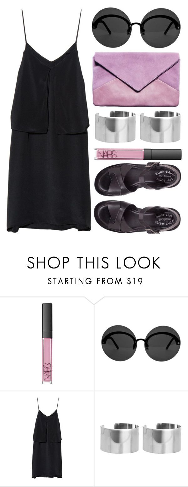 """""""Untitled #221"""" by rose-olh ❤ liked on Polyvore featuring NARS Cosmetics, Le Specs, 3.1 Phillip Lim, ASOS and Kork-Ease"""