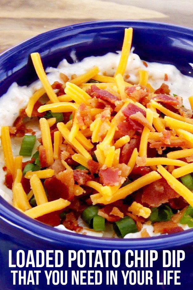 Loaded Potato Chip Dip | 6 Dips That Are Perfect For Football Sunday