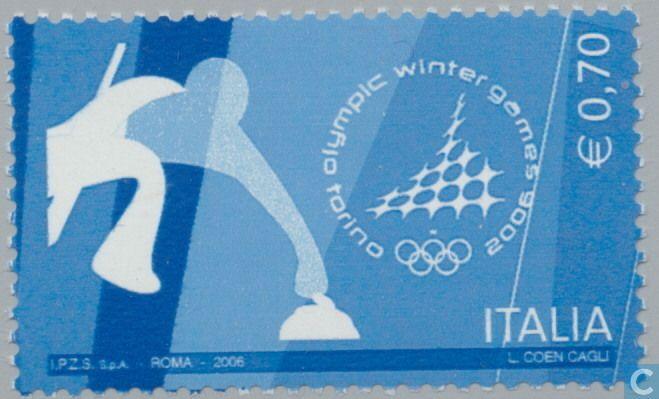 Timbres-poste - Italie - Jeux olympiques de Torino-
