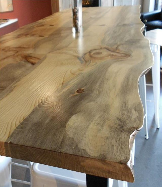 16 best images about beetle kill pine on pinterest pine for Live edge slab lumber