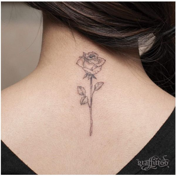 40+ Blackwork Rose Tattoos You'll Instantly Love - TattooBlend ❤ liked on Polyvore featuring accessories, body art and tattoos