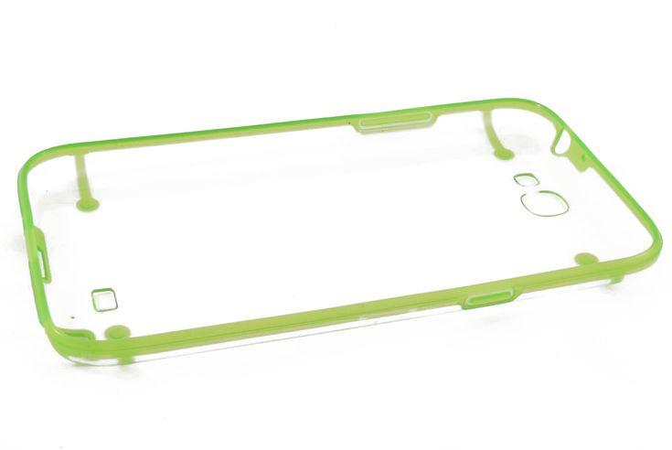 Чехол кейс прозрачная крышка, силиконовая рамка Samsung N7100 Galaxy Note 2 (зеленый)  Чехол кейс прозрачная крышка, силиконовая рамка Samsung N7100 Galaxy Note 2 (зеленый)