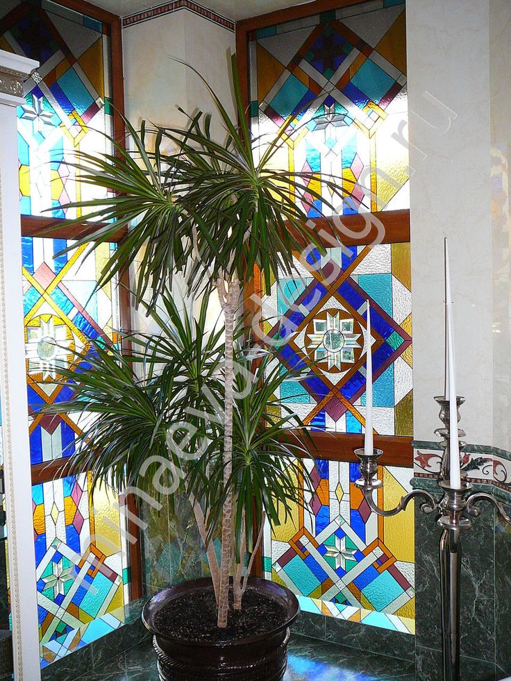 Stained glass window is made in the studio of Olga Minaeva, Russia, Krasnodar