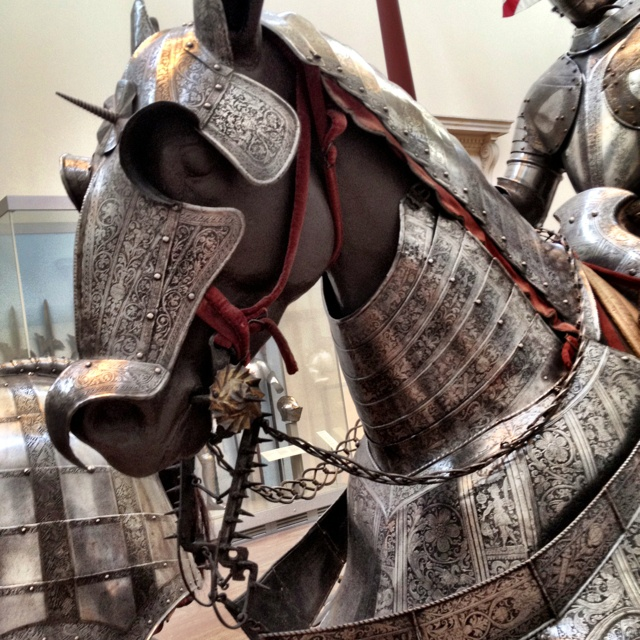 Medieval horse armor at the Met in New York
