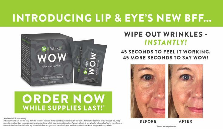 Wipe out wrinkles in 2 minutes. This stuff is amazing and so affordable! Erase those wrinkles! Check it out!