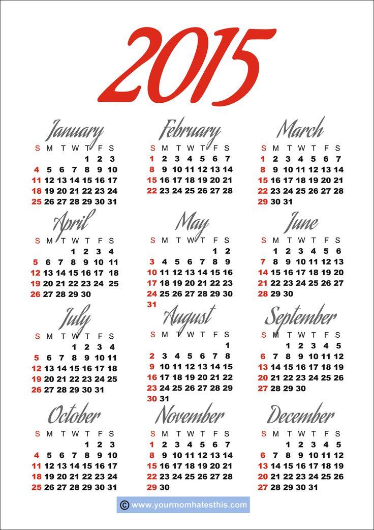 60 best Calendar images on Pinterest | Free printables, Printable ...