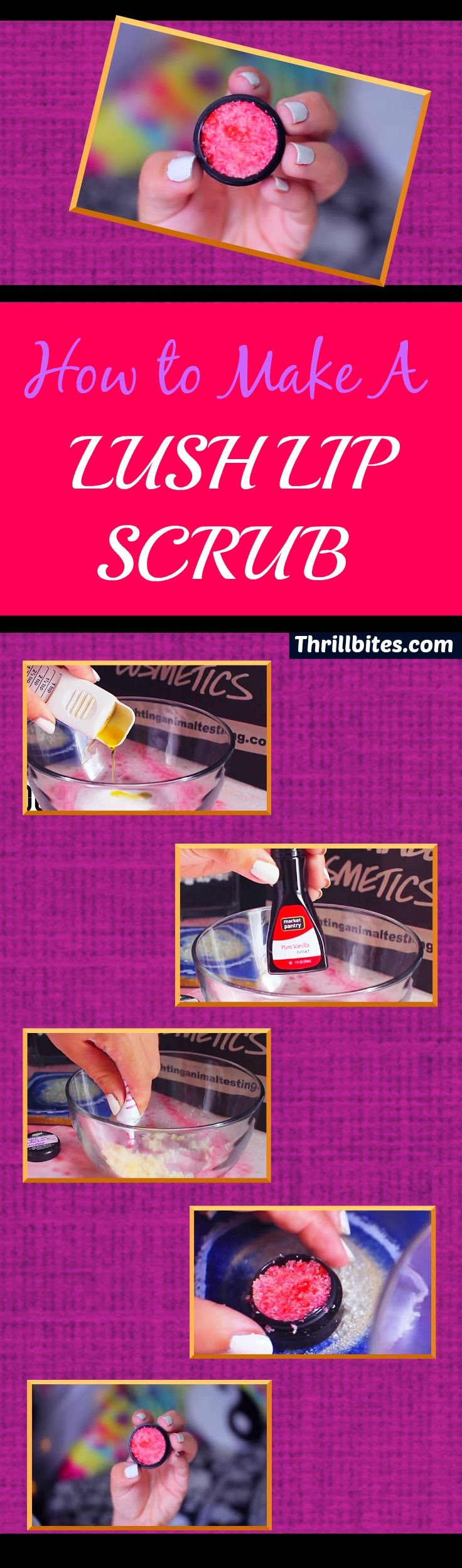 DIY Lush Lip Scrub | DIY Crafts | DIY Projects | DIY Beauty IdeasDIY Lush Lip Scrub
