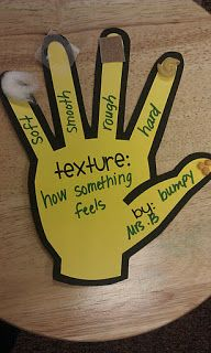 Sensory- What a great idea for kids who are learning their sense of touch! Using different objects for the different textures is one way to adapt this activity. For example instead of waxed paper for something smooth, you could use parts of a smooth leaf.