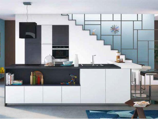 1000 id es propos de plan de travail quartz sur for Facade cuisine noir mat