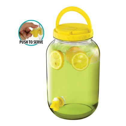 1gallon Colored Lid Beverage Dispenser